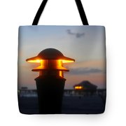 Pier Lights Tote Bag