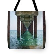 Pier On The Outer Banks Tote Bag
