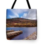 Pier On The Upper Lake In Glendalough - Wicklow, Ireland Tote Bag
