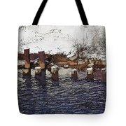 Pier Piles Tote Bag