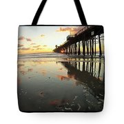 Pier Reflections - Sunset Tote Bag