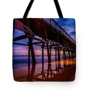 Pier Sunrise Tote Bag