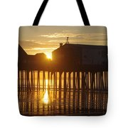 Pier Sunrise Tote Bag