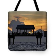 Pier Sunset Tote Bag