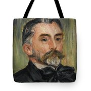 Pierre-auguste Renoir 1841-1919 Portrait Stephane Mallarme Tote Bag
