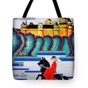 Pierrefonds Castle, Woman On Horse, France Tote Bag
