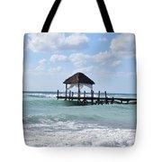 Piers By The Ocean Tote Bag