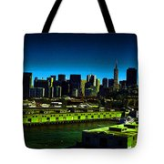 Piers Of San Francisco Tote Bag