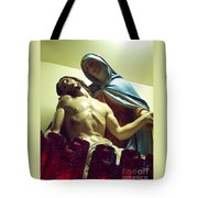 Pieta And The Candles Tote Bag