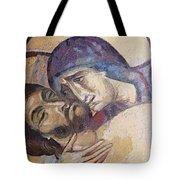 Pieta-mural Detail Tote Bag