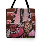 Pig And Sheep Tote Bag