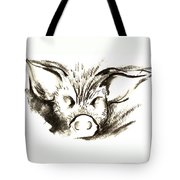 Pig Headed Tote Bag