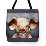 Pig Human Morphed Tote Bag