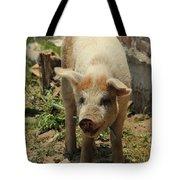 Pig On A Farm Tote Bag