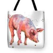 Pig Painting Tote Bag