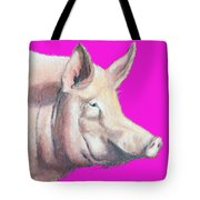 Pig Painting - Kitchen Art Tote Bag