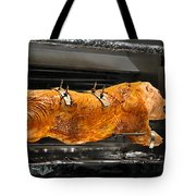 Pig Plus Barbecue Equals Mmmm Good Tote Bag by Christine Till