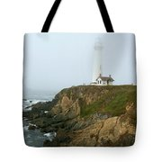 Pigeon Point Light In A Mist Tote Bag