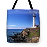 Pigeon Point Lighthouse 2 Tote Bag by Kathy Yates