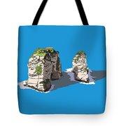 Pigeon Rocks, Beirut Tote Bag