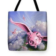 Pigs Away Tote Bag