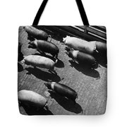 Pigs Being Corralled Tote Bag