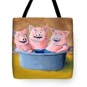 Pigs In A Tub Tote Bag
