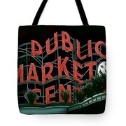 Pike Place Market Entrance 5 Tote Bag