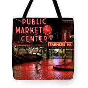 Pike Place Reflections Tote Bag