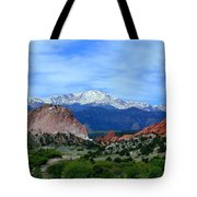 Pikes Peak And Garden Of The Gods 1 Tote Bag