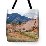 Pikes Peak From Red Rock Canyon Tote Bag