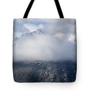Pikes Peak In Snow Tote Bag