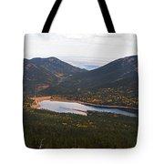 Pikes Peak Manitou Colorado Lake Tote Bag