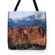 Pikes Peak Over The Garden Tote Bag