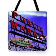 Pike's Place Market Tote Bag