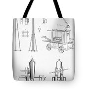 Pile Driver, Fire Engine, Steam Engine Tote Bag