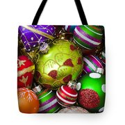 Pile Of Beautiful Ornaments Tote Bag