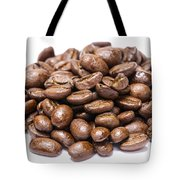 Pile Of Coffee Beans Isolated On White Tote Bag