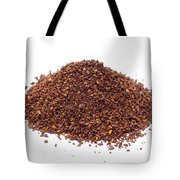 Pile Of Ground Coffee Isolated On White Tote Bag