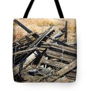 Pile Of Old Wood Tote Bag