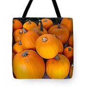 Pile Of Pumpkins For Sale Expressionist Effect Tote Bag