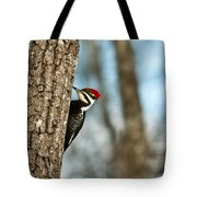 Pileated Billed Woodpecker Pecking 1 Tote Bag