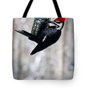 Pileated Billed Woodpecker Pecking 6 Tote Bag
