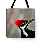 Pileated Woodpecker Up Close Tote Bag