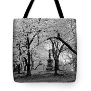 Pilgrim Fathers Statue Bw Tote Bag