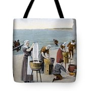 Pilgrims Washing Day, 1620 Tote Bag