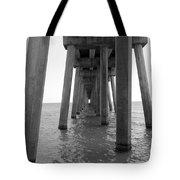 Black And White Pier Tote Bag