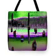 Pilings Of The Past Tote Bag