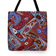 Pillars In The Sky Abstract #4 Tote Bag