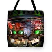 Pilots At The Controls Of A B-52 Tote Bag by Stocktrek Images